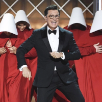 Stephen Colbert at the 69th Emmy Awards