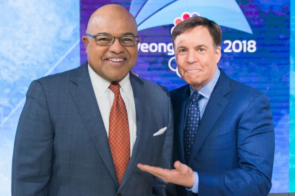 Mike Tirico and Bob Costas