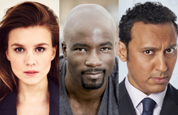 Katja Herbers, Mike Colter and Aasif Mandvi star in <i>Evil</i> (CBS)