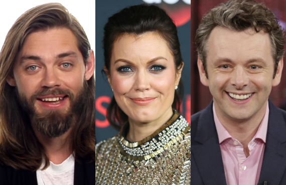 Tom Payne, Bellamy Young and Michael Sheen in <i>Prodigal Son</i>