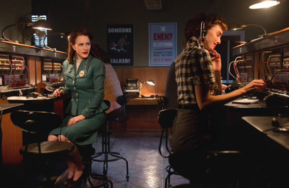 Rachel Brosnahan and Carole Weyers in <i>Manhattan</i> (WGN America)