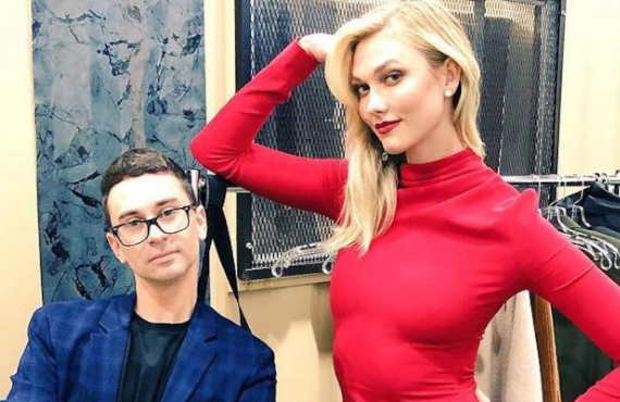 Christian Siriano and Karlie Kloss in Project Runway (Bravo)