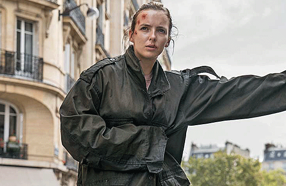 Villanelle (Jodie Comer) is wounded but on the run in the season premiere of Killing Eve.