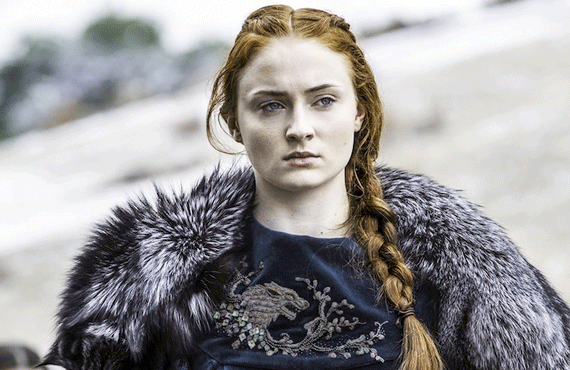 Sansa Stark (Sophie Turner) on Game of Thrones
