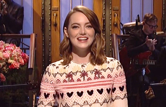 Emma Stone will be back at homebase in Studio 8H for tonight's Saturday Night Live