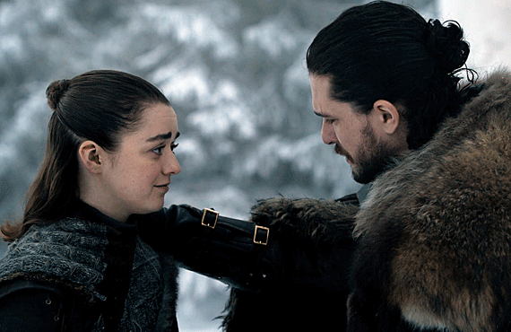 Arya and Jon Snow reunite on the latest Game of Thrones