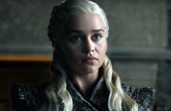 Daenerys (Emilia Clarke) on Game of Thrones