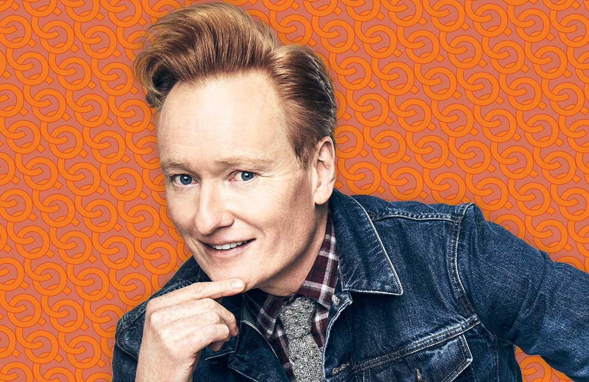 Out with the suits, in with denim. Conan O'Brien in a promotional photo for the 30-minute Conan on TBS. (Team Coco)