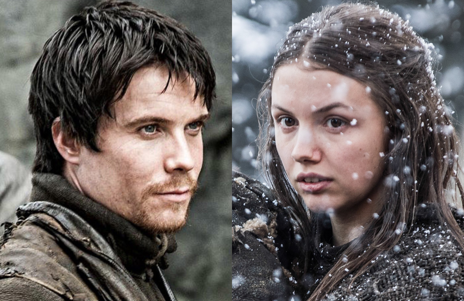 Gendry (Joe Dempsie) and Gilly (Hannah Murray) in Game of Thrones (HBO)