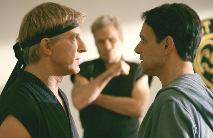 Johnny Lawrence and Daniel LaRusso in Cobra Kai (YouTube)
