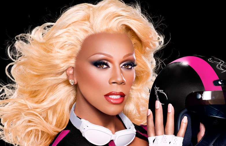 RuPaul in a promotional photo for RuPaul's Drag Race (VH1)