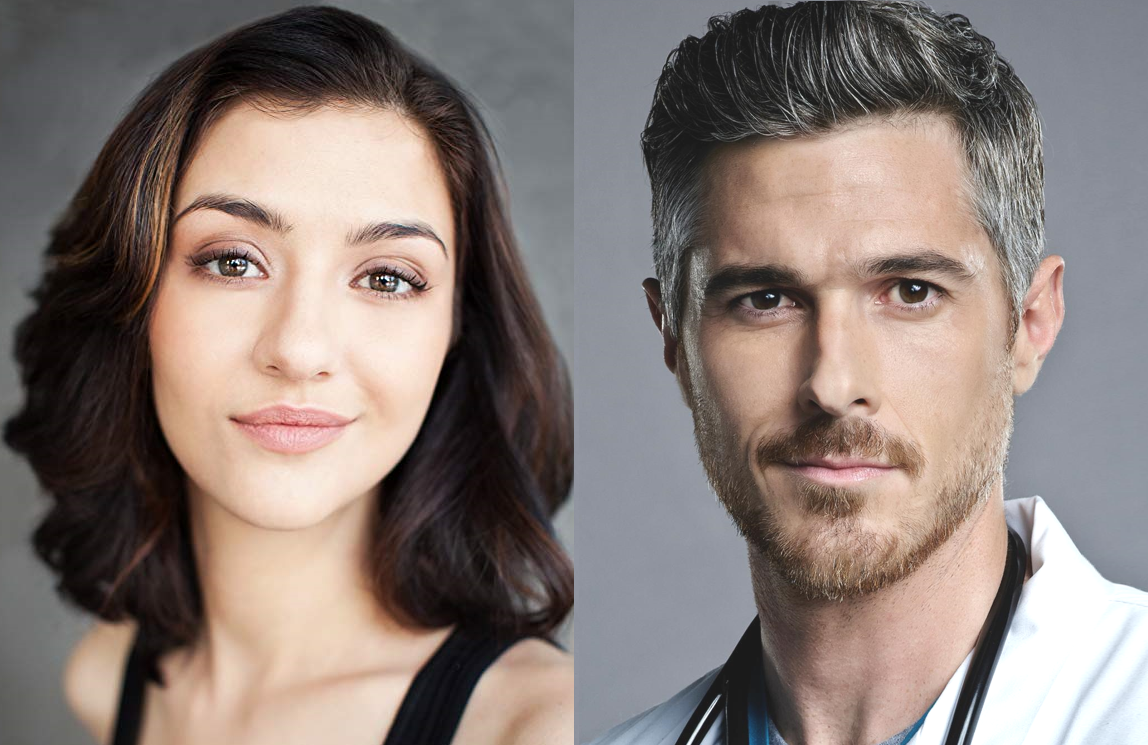 Katie Findley as Sydney and Dave Annable as Wesley in the pilot for <i>Heart of Life</i>