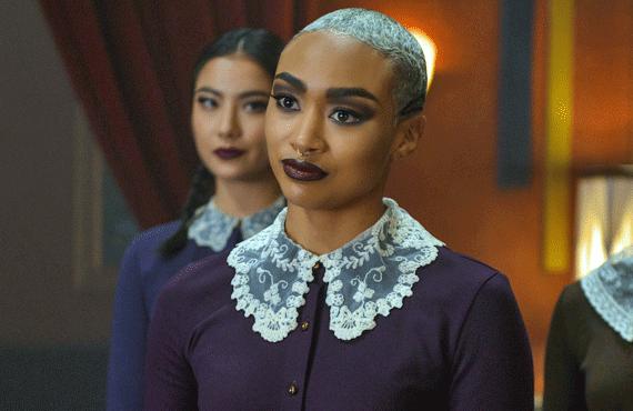 Tati Gabrielle as Prudence on Chilling Adventures of Sabrina (Netflix)