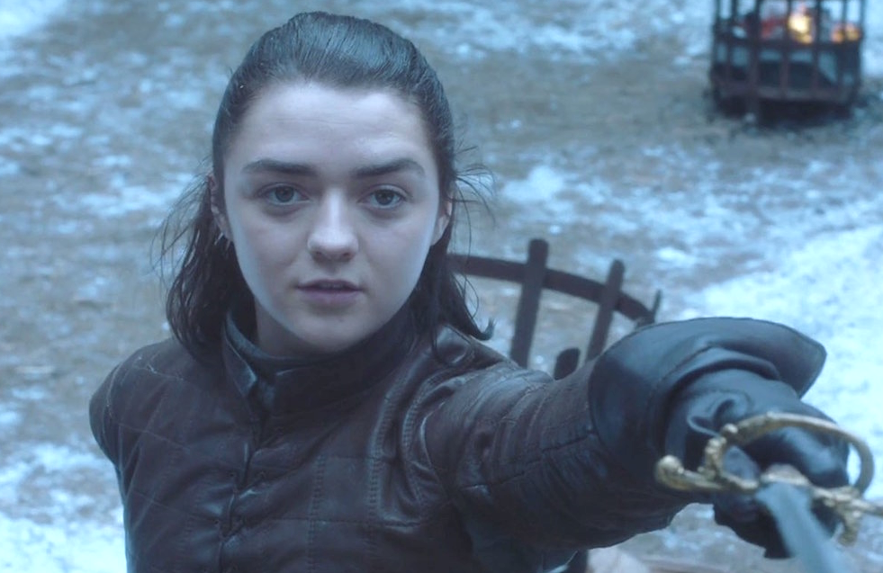 Maisie Williams as Arya Stark in Game of Thrones (HBO)