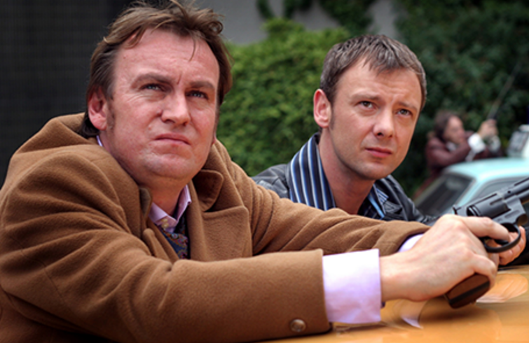 Philip Glenister and John Simm star in Life on Mars (UK)