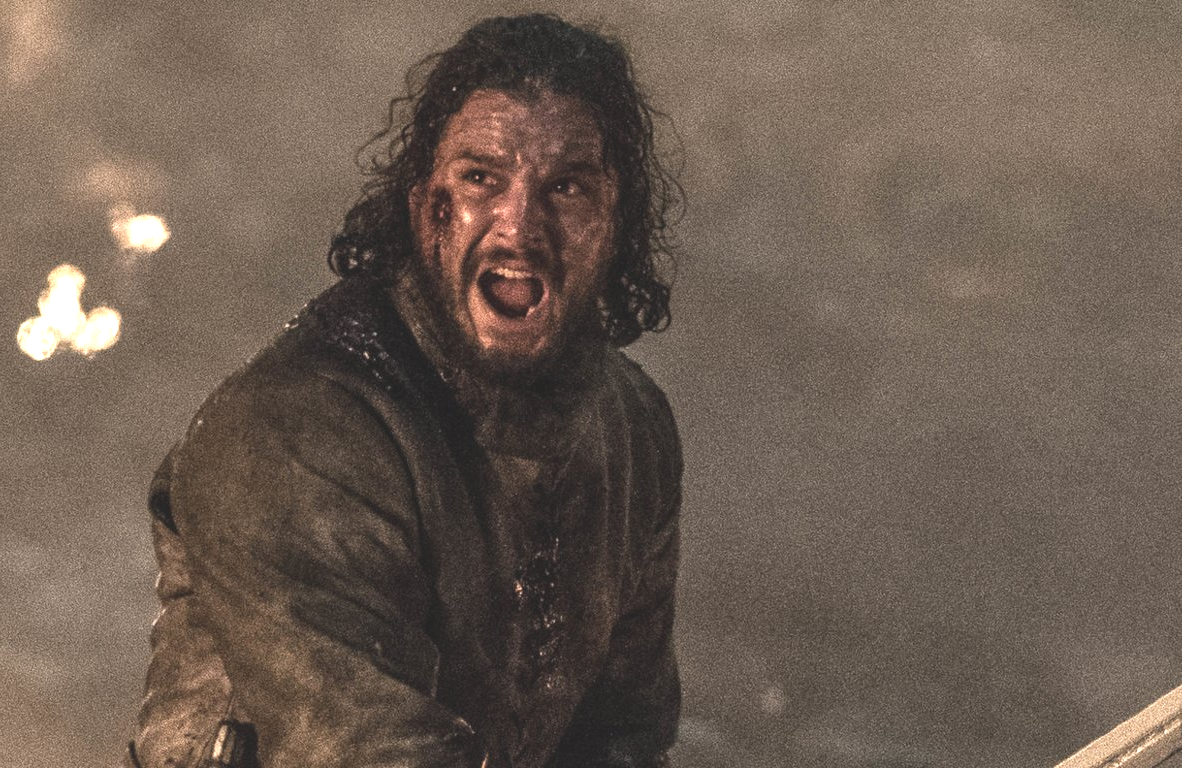 Kit Harington in one of last week's lighter moments on Game of Thrones (HBO)