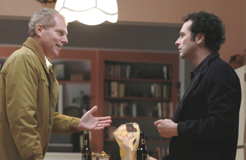 FBI agent Stan Beeman (Noah Emmerich) with his new neighbor Philip Jennings (Matthew Rhys). (FX)