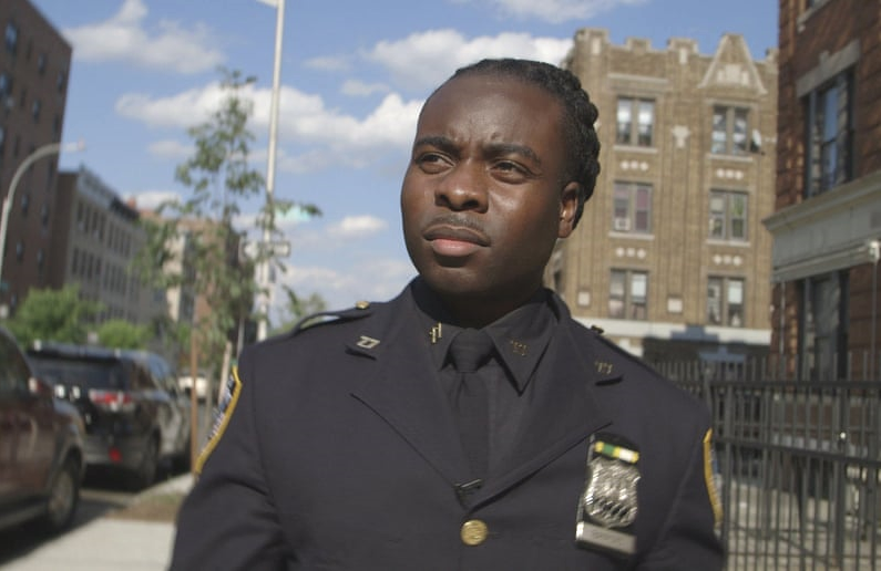 Officer Edwin Raymond in an image from the Hulu Original documentary Crime + Punishment