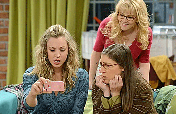 Kaley Cuoco, Melissa Rauch, and Mayim Bialik in The Big Bang Theory (CBS)