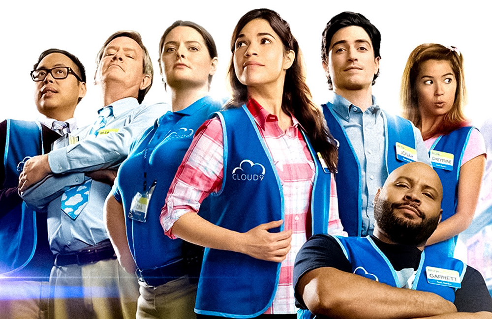 The cast of Superstore in a promotional photo for the show's second season. (NBC)