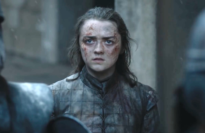 Maisie Williams is Arya Stark in Game of Thrones (HBO)