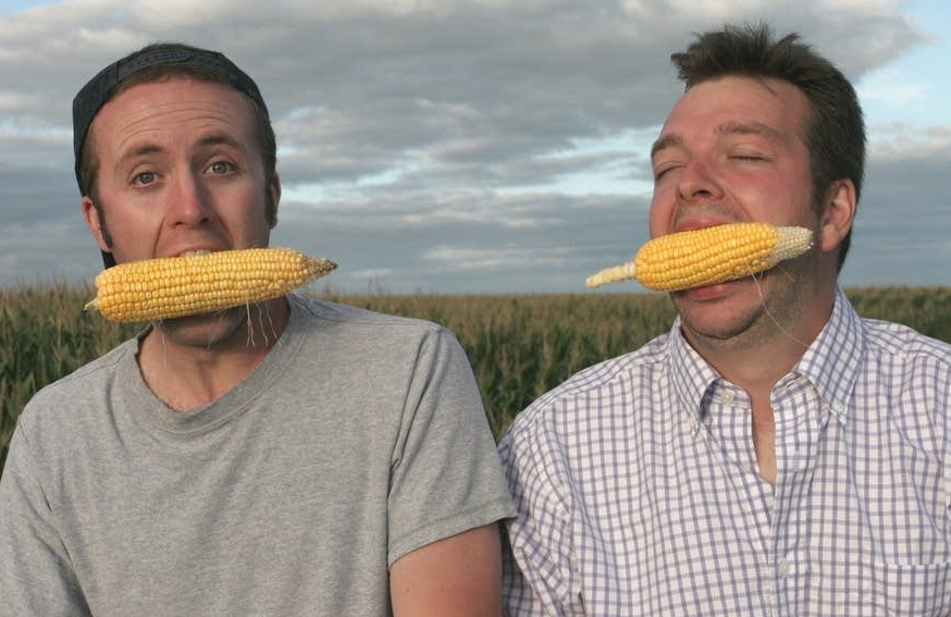 Ian Cheney and Curt Ellis, the duo behind the 2008 PBS documentary, King Corn. (Photo: Mosaic Features).