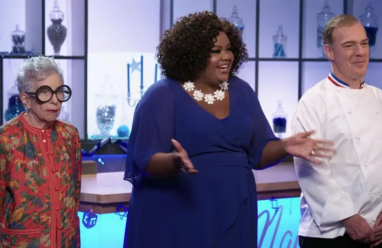 Sylvia Weinstock, Nicole Byer and Jacques Torres in Nailed It! (Netflix)