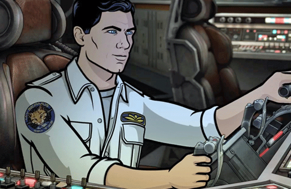 Sterling Archer (voiced by H. Jon Benjamin) in Archer (FXX)