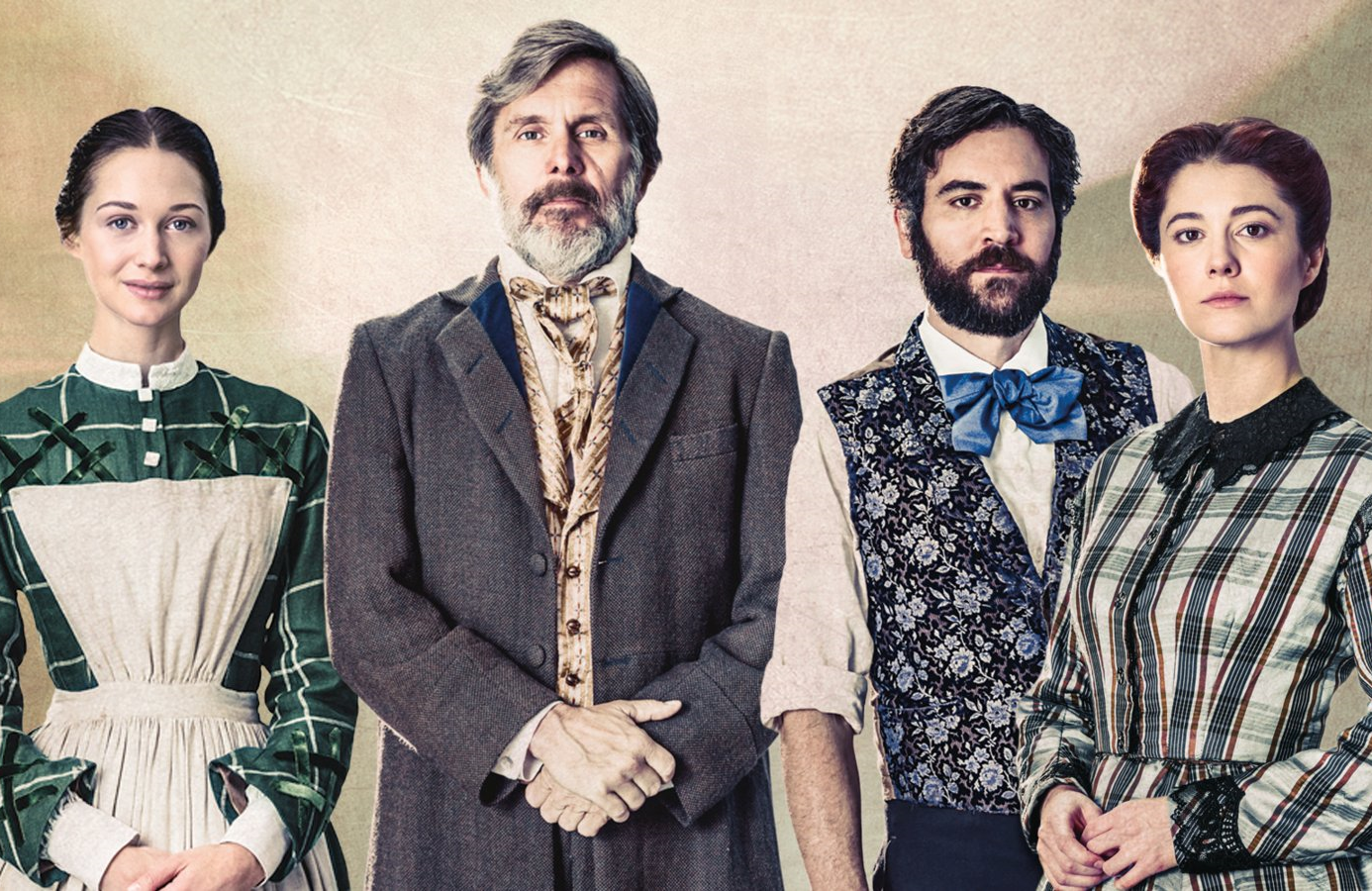 Hannah James, Gary Cole, Josh Radnor and Mary Elizabeth Winstead star in Mercy Street  (PBS)