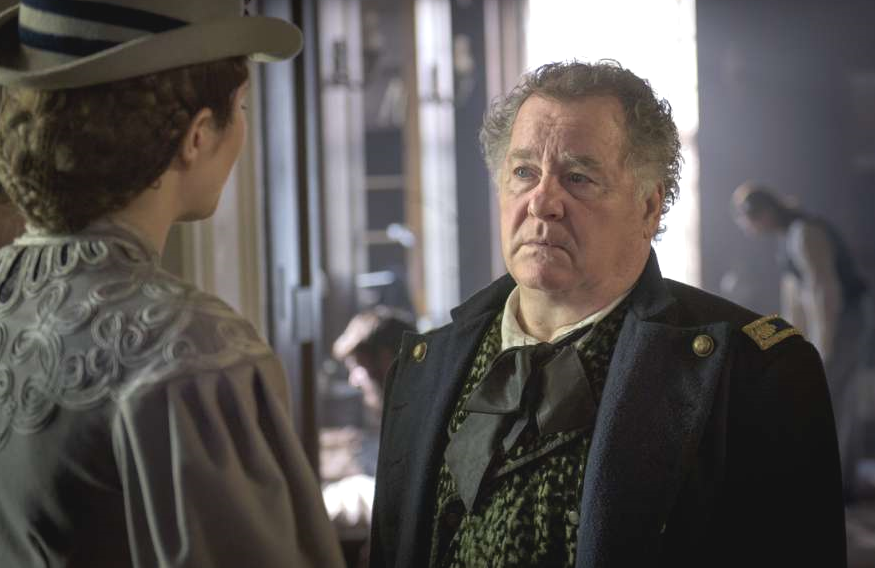 Mary Phinney (Mary Elizabeth Winstead) and Alfred Summers (Peter Gerety) in <i>Mercy Street</i> (PBS)