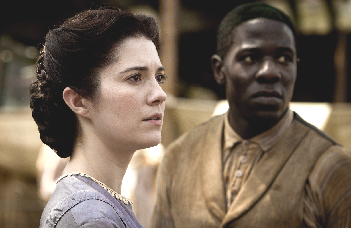 Mary Phinney (Mary Elizabeth Winstead) and Samuel Diggs (McKinley Belcher) in <i>Mercy Street</i> (PBS)