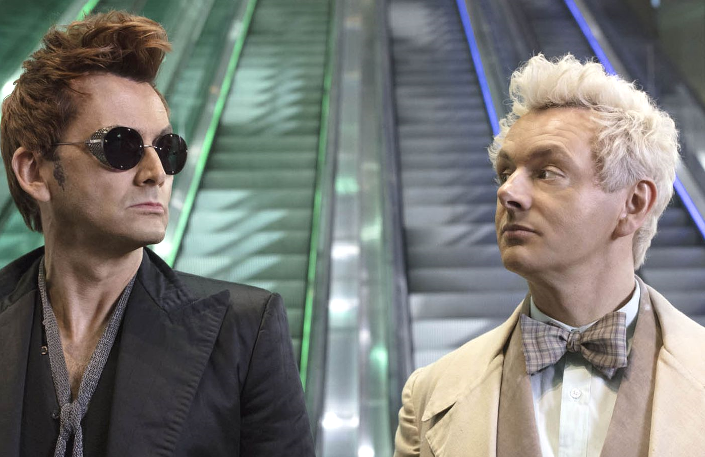 David Tennant and Michael Sheen in Good Omens (Amazon)
