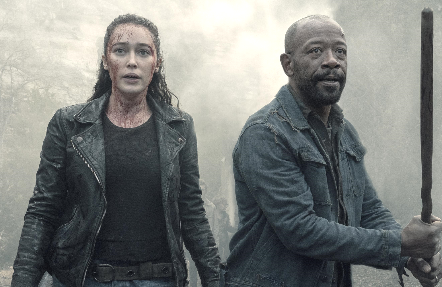 Alycia Debnam-Carey as Alicia Clark and Lennie James as Morgan Jones in Fear the Walking Dead (Photo: Ryan Green/AMC)