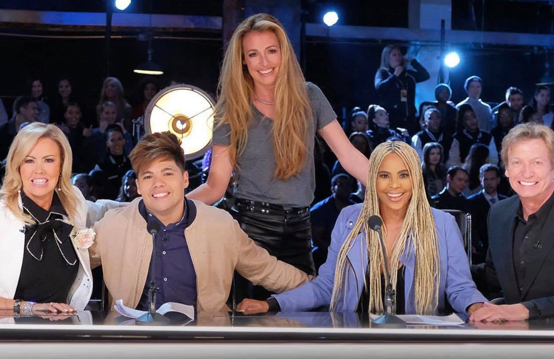 "Host Cat Deeley with your So You Think You Can Dance 2019 judging panel: Mary Murphy, Dominic ""D-trix"" Sandoval, Laurieann Gibson and Nigel Lythgoe. (FOX)"