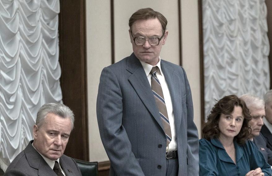 Stellan Skarsgard, Jared Harris and Emily Watson in Chernobyl (HBO)