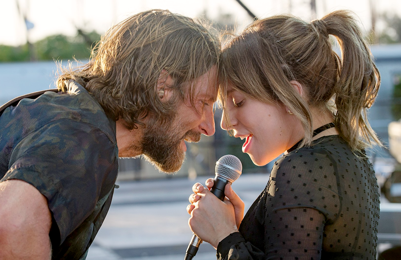 Bradley Cooper and Lady Gaga in A Star is Born airing tonight on HBO. (Neal Preston/Warner Bros. Pictures)