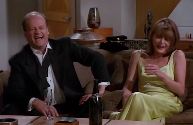 "Kelsey Grammer and Jane Leeves in ""Liar! Liar!"" (Photo: NBC)"