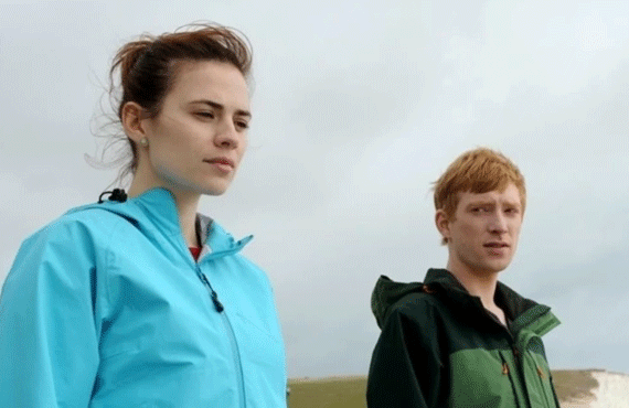 "Hayley Atwell and Domhnall Gleeson in ""Be Right Back"" (Netflix)"