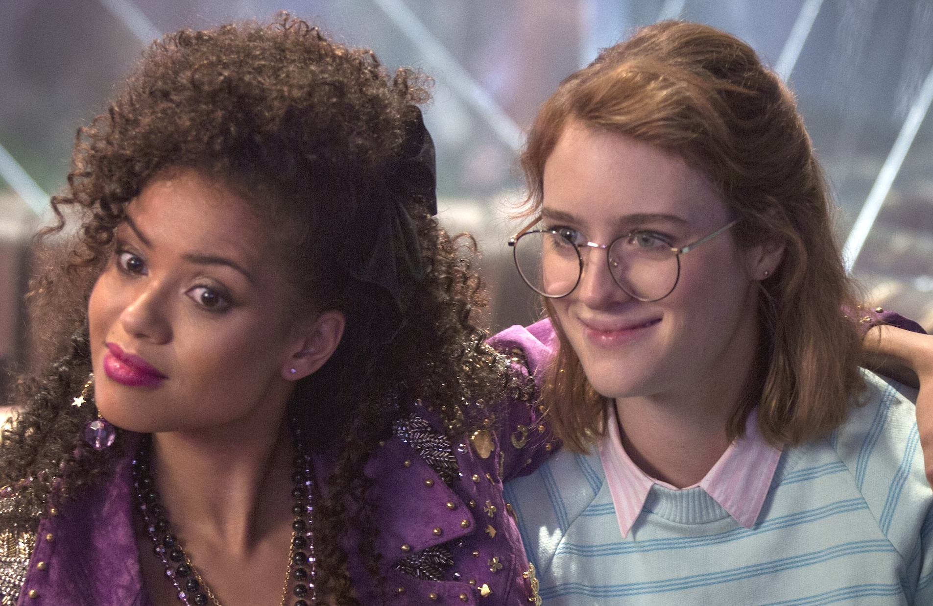 "Gugu Mbatha-Raw and MacKenzie Davis in the ""San Junipero"" episode of Black Mirror (Netflix)"
