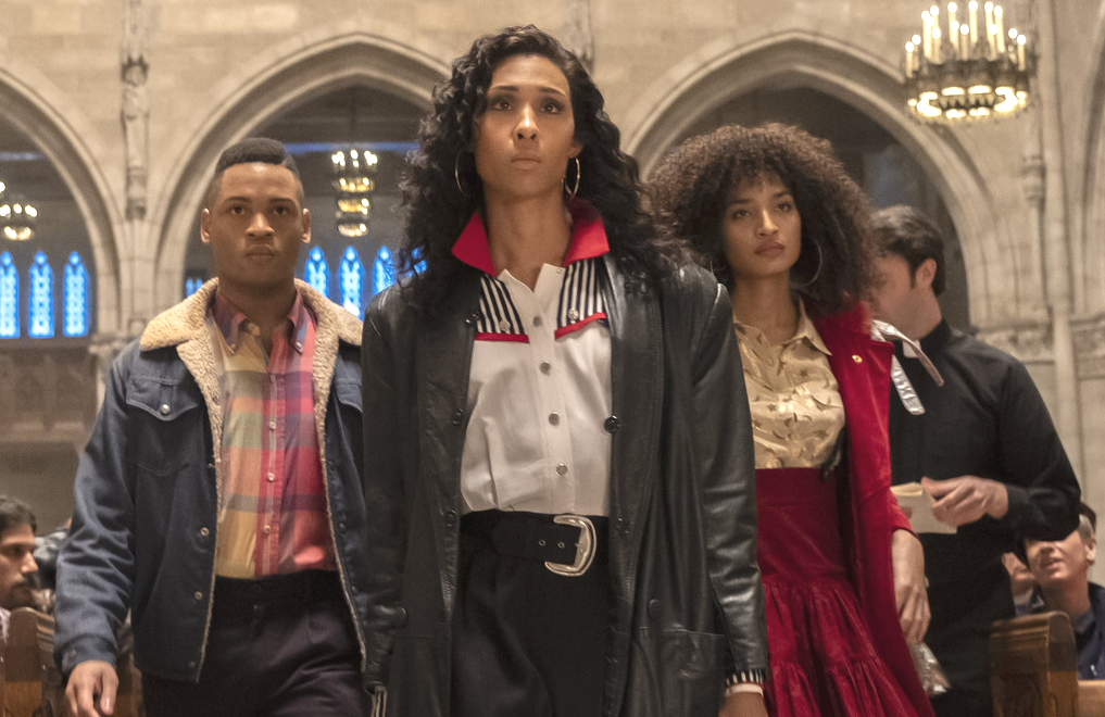 Ryan Jamaal Swain, Mj Rodriguez and Indya Moore in the Season 2 premiere of Pose (Macall Polay/FX)