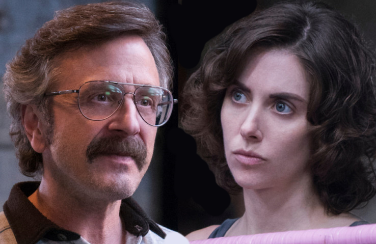 Marc Maron and Alison Brie in GLOW (Netflix)