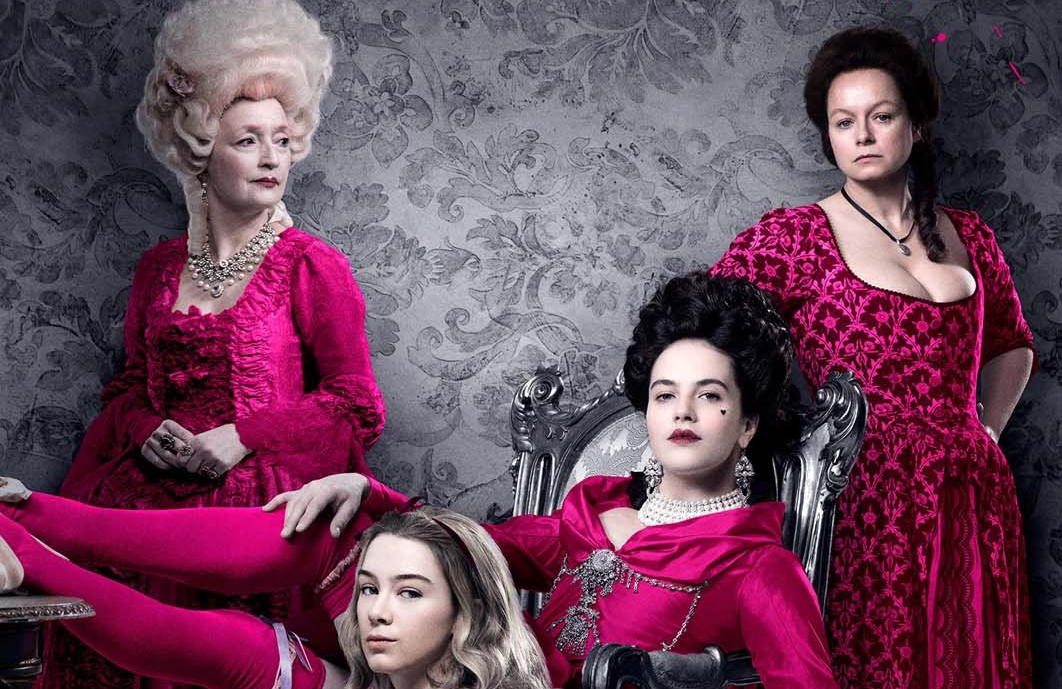 Lesley Manville, Eloise Smyth, Jessica Brown Findlay and Samantha Morton star in Harlots Season 1 (ITV/Hulu)