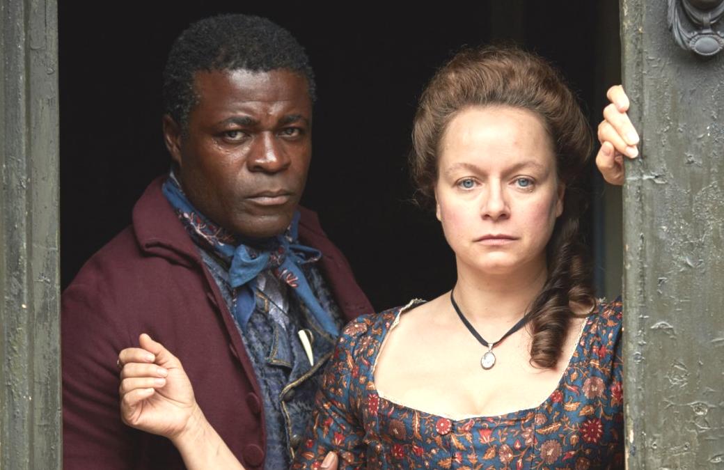 Danny Sapini as William North and Samantha Morton as Elizabeth Wells in Harlots (ITV/Hulu)