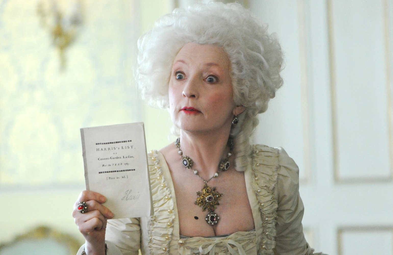 Lesley Manville as Lydia Quigley in Harlots (ITV/Hulu)
