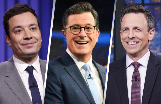 Jimmy Fallon, Stephen Colbert, Seth Meyers and Trevor Noah will all host live editions of their shows following the first Democractic Presidential Debates this week.