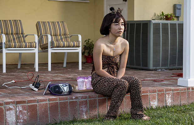 A dejected Maya (Maya Erskine) is relegated to Scary Spice/Servant. (Hulu)