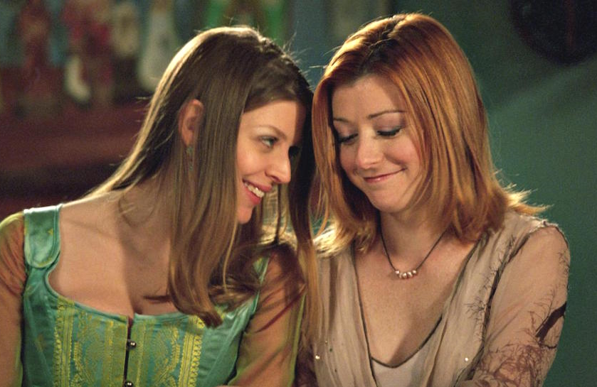 Amber Benson and Alyson Hannigan in Buffy the Vampire Slayer