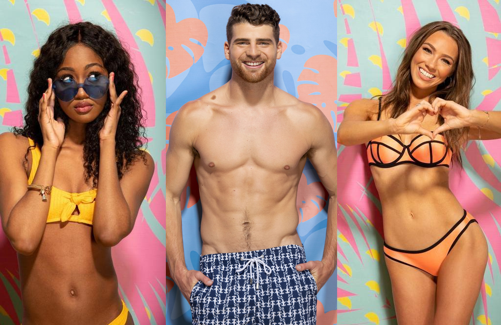 Alana Morrison, Cashel Barnett, and Alexandra Stewart are among the eleven singles competing in tonight's premiere episode of Love Island. (CBS)