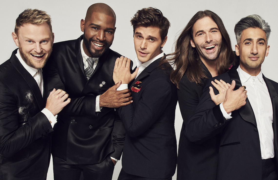 Queer Eye's New Fab Five: Bobby Berk, Karamo Brown, Antoni Porowski, Jonathan Van Ness and Tan France. (Netflix)