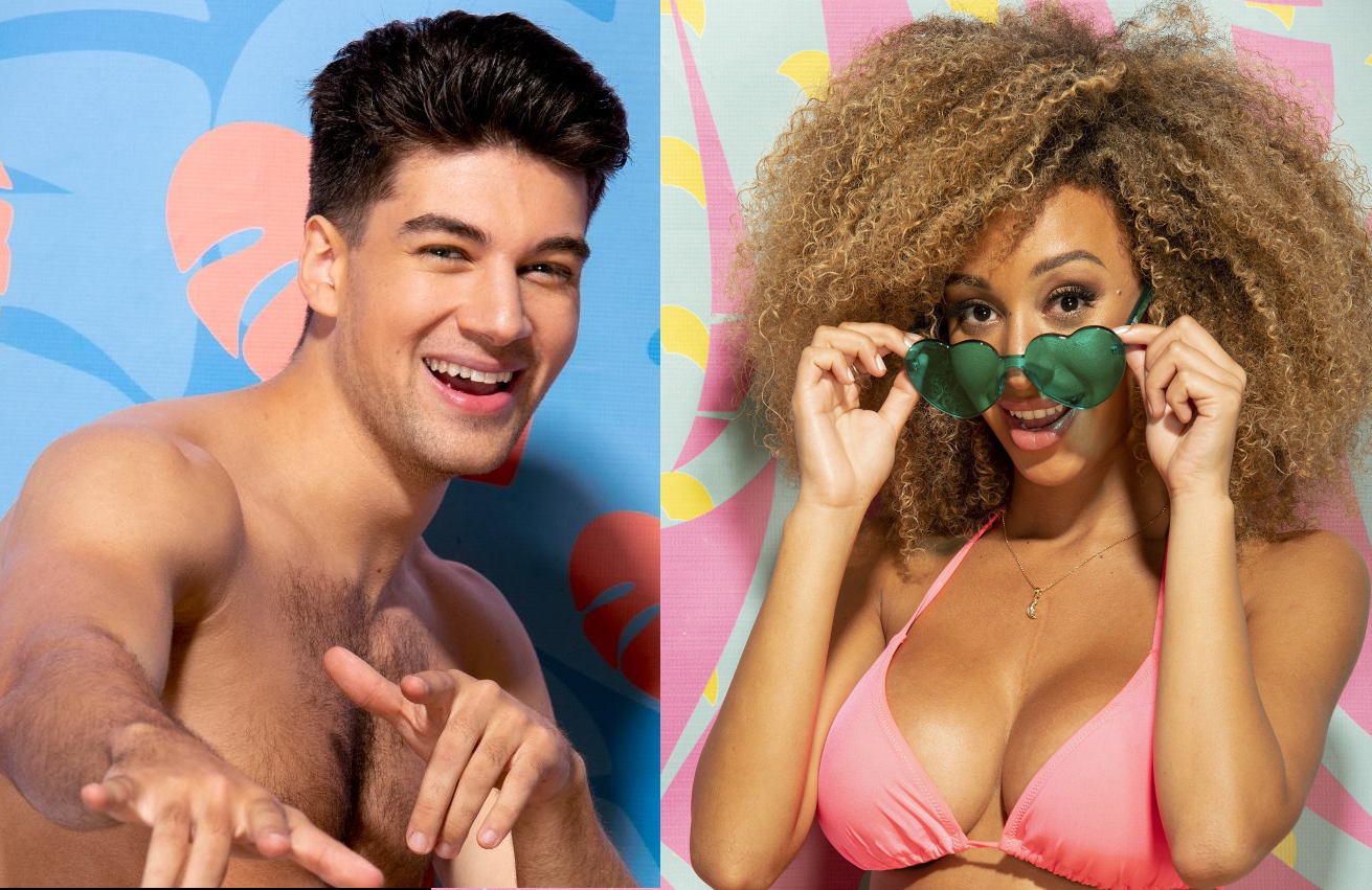 "Zac Mirabelli and Caroline ""Caro"" Viehweg in Love Island (CBS)"